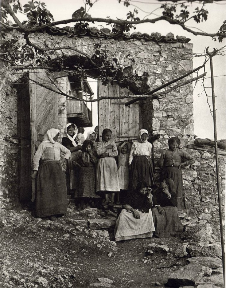 Karytaina village Arkadia Greece 1903