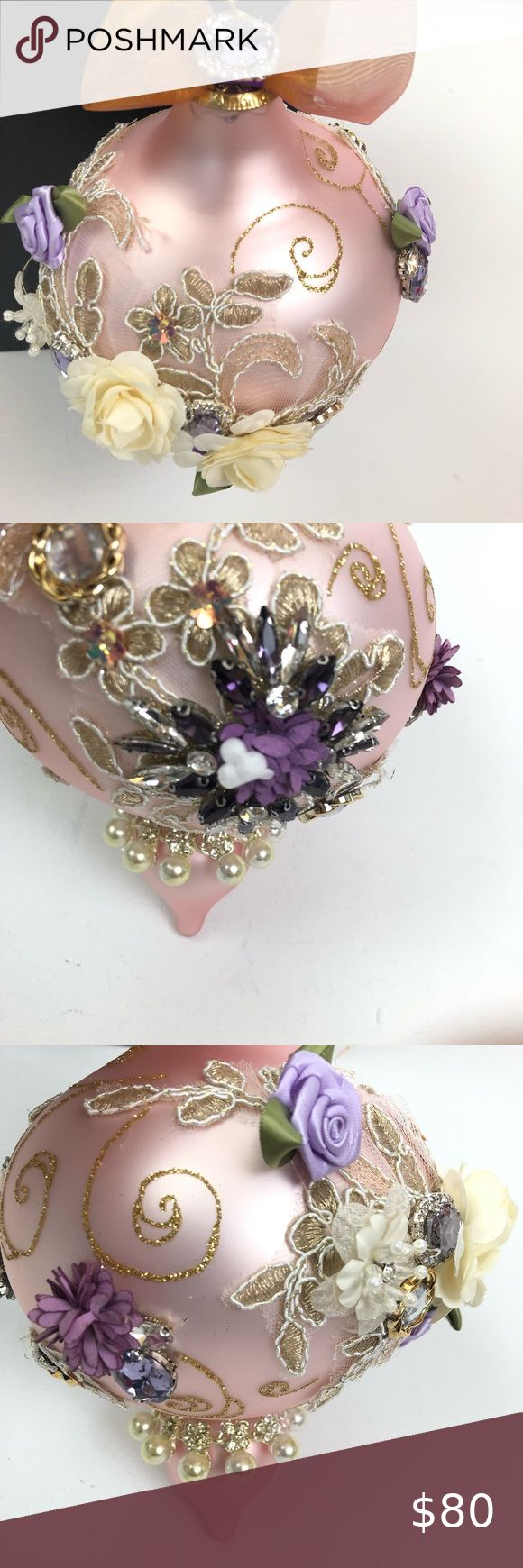 Mark Roberts Pink purple beaded holiday Ornament in 2020