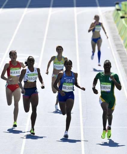 Caster Semenya divides opinion in Rio Olympic debut:  August 17, 2016  -     South Africa's Caster Semenya, right, United States' Ajee Wilson, center, Britain's Shelayna Oskan-Clarke, second left, and China's Chunyu Wang, left, compete in a women's 800-meter heat during the athletics competitions of the 2016 Summer Olympics at the Olympic stadium in Rio de Janeiro, Brazil, Wednesday, Aug. 17, 2016.