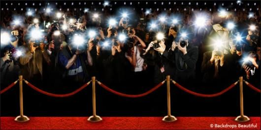 Red Carpet Background With Paparazzi Paparazzi Celebrity