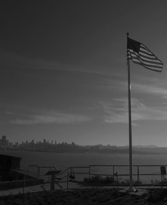 Black and White image of the view from Alcatraz Island towards San Francisco city. Want this picture printed on canvas or cards etc? Click on the image :)