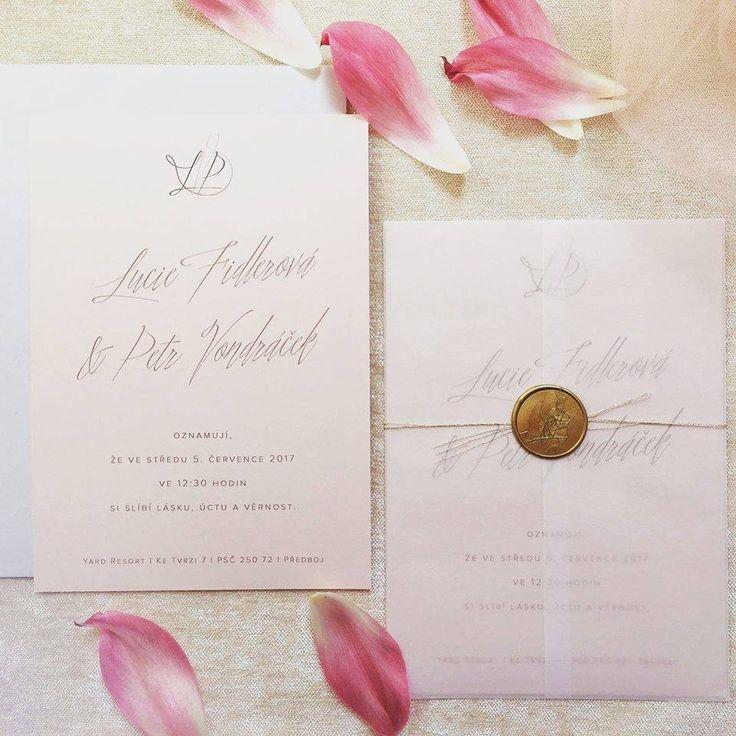 Svatební oznámení a logo novomanželů