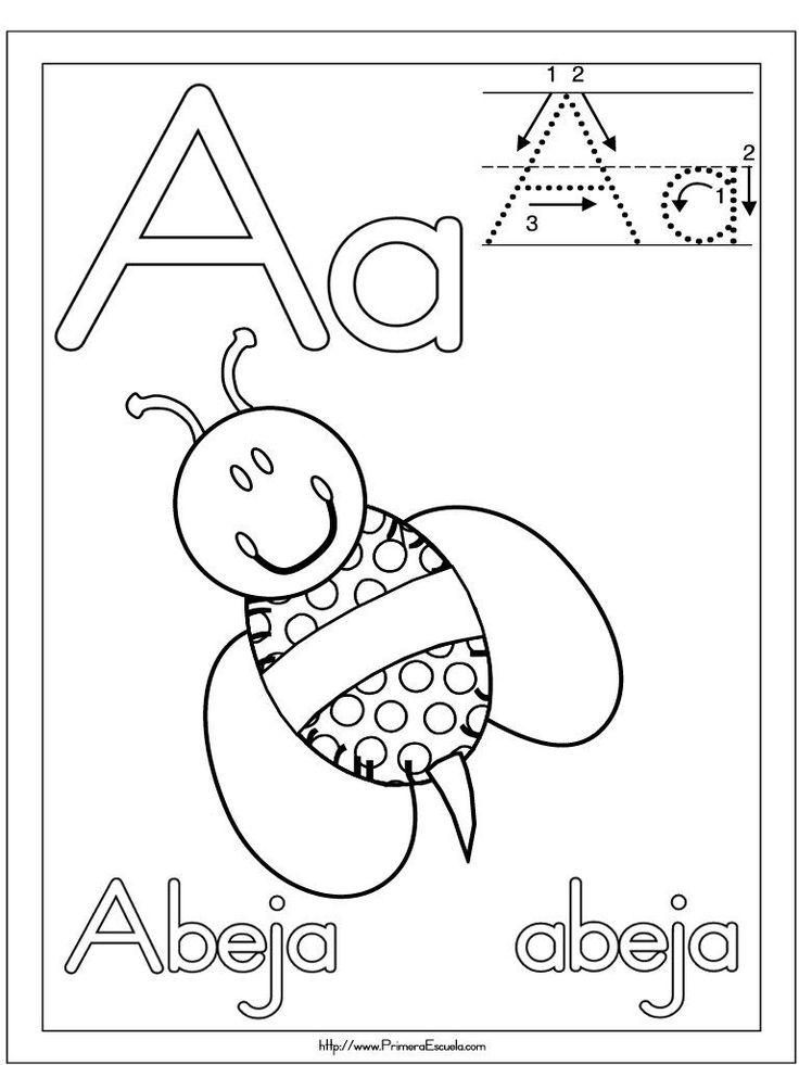 Fichas para imprimir y trabajar la lectoescritura con la vocal A. Trabaja las letras, próximamente el resto de las vocales