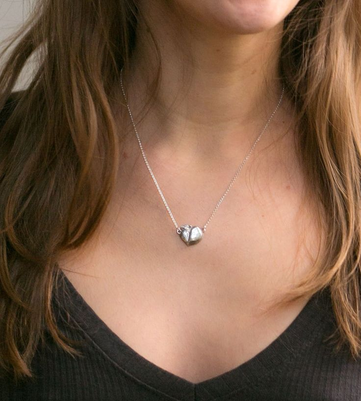 Recycled Silver Georgia Peach Necklace by bones&blooms on Scoutmob