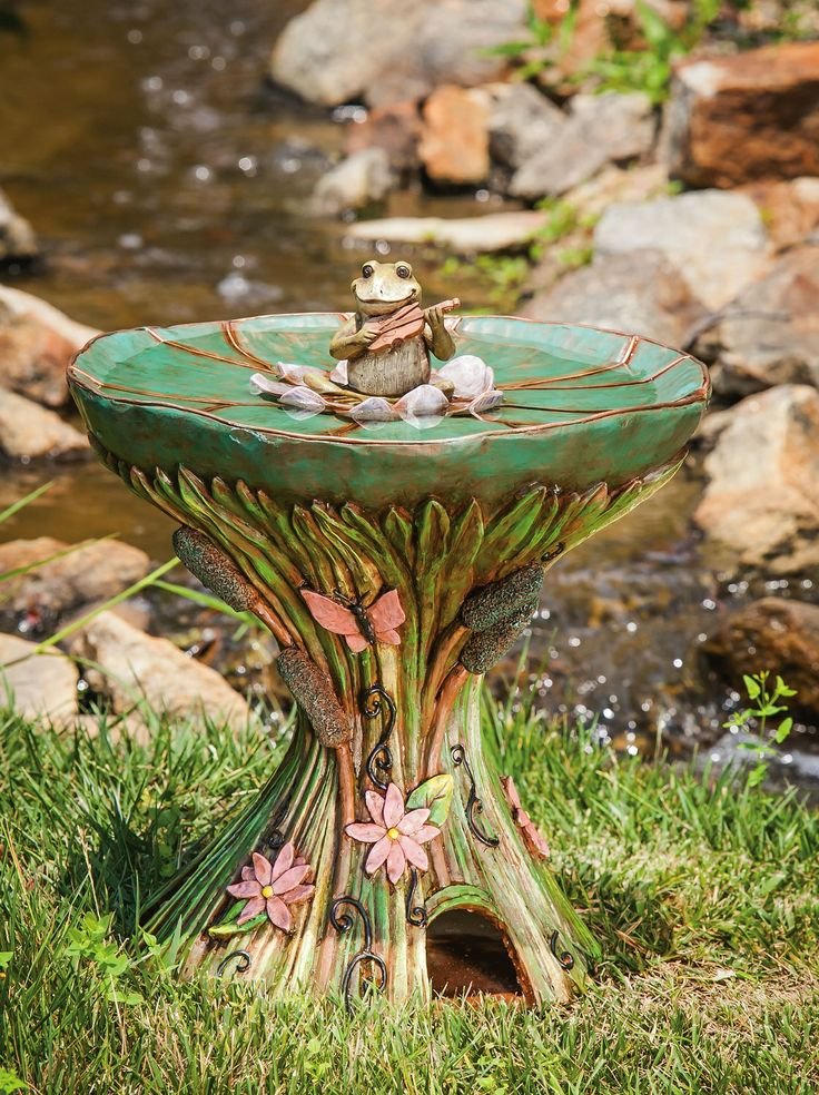 17 best images about beautiful bird baths on pinterest for Unique yard decorations