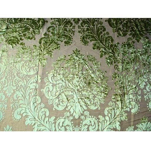 Damask Envy - Burnout Velvet on Fancy Fabric | Bohemian ...