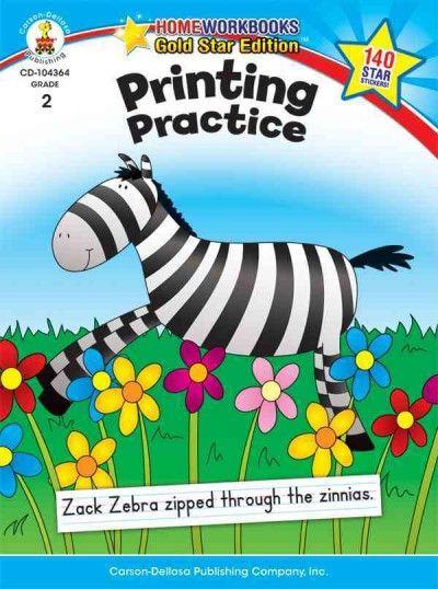 Printing Practice: Grade 2 (Home Workbooks Gold Star Edition)