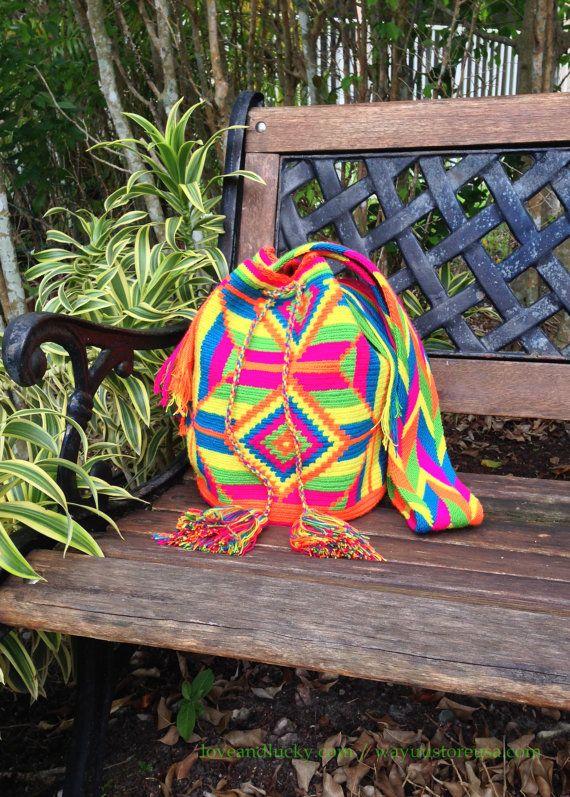 Authentic Wayuu Bags Wayuu Mochilas Handmade by by loveandlucky