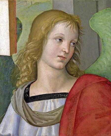 fraaie engel van Rafaël. De grootmeester van de renaissance-kunst schilderde de verfijnde voorstelling rond 1501 in Florence. Vandaaruit vond de nieuwe, classicistische manier van schilderen zijn weg naar het Noorden van Italië. .