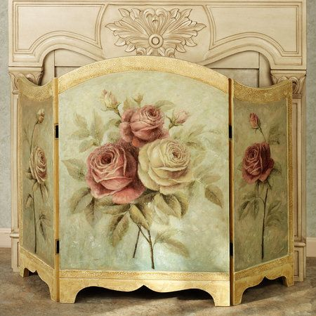 victorian fireplace screens | Home Rose Delight Fireplace Screen Multi Pastel