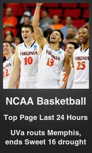 Top NCAA Basketball link on telezkope.com. With a score of 5517. --- UVa routs Memphis, ends Sweet 16 drought. --- #topncaabasketballlinks --- Brought to you by telezkope.com - socially ranked goodness