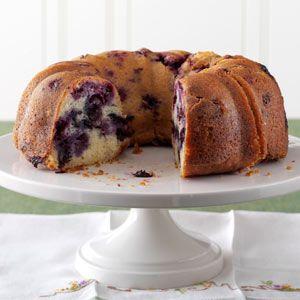 Lemon-Blueberry Pound Cake Recipe from Taste of Home
