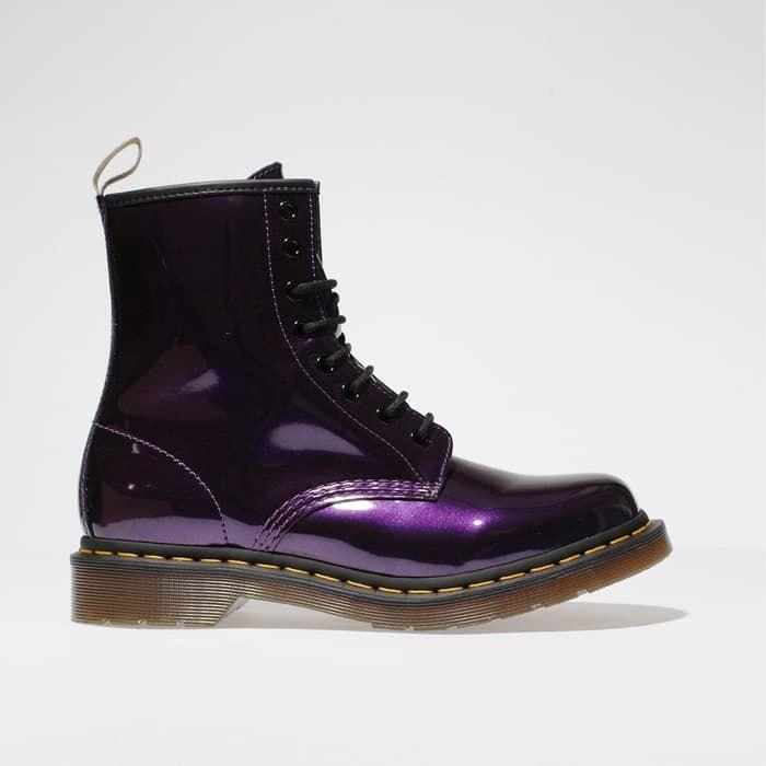 womens purple dr martens 1460 vegan