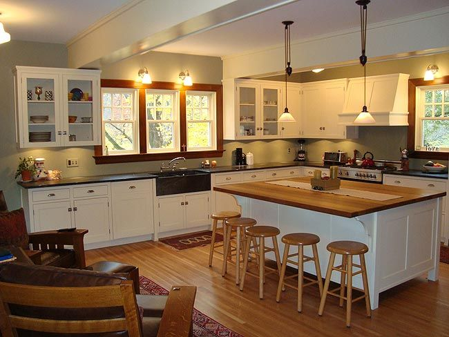 Craftsman kitchen a collection of design ideas to try Bungalow home interior design