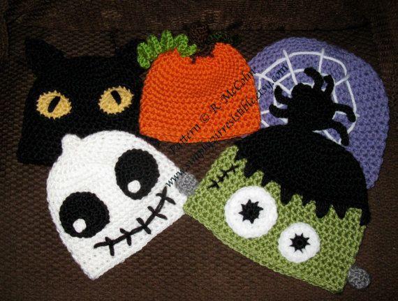HALLOWEEN Hats Crochet Pattern 101 Black von Simply2Irresistible