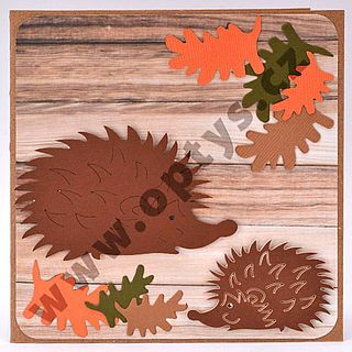 Výřez ježek malý, 12 ks