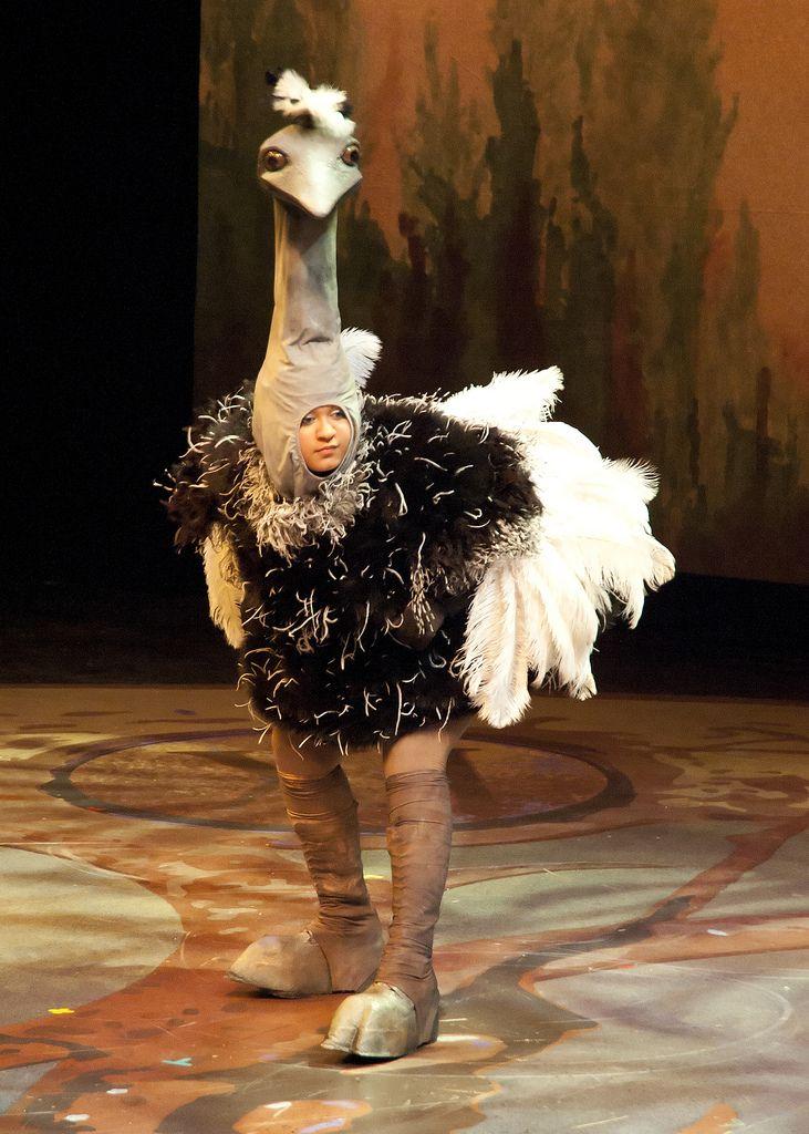 https://flic.kr/p/9F1hrJ | Draper for Ostrich Costume | PCPA production of Peter…