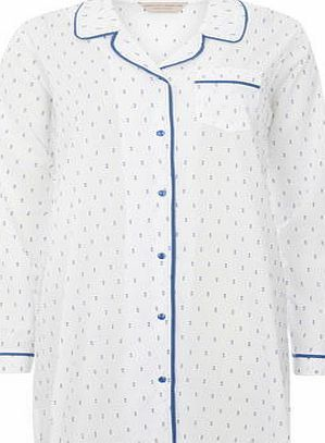 Dorothy Perkins Womens Cream and Blue Swiss Dot Nightshirt- Cream and blue swiss dot nightshirt. 100% Cotton. Machine washable. http://www.comparestoreprices.co.uk/lingerie-and-nightwear/dorothy-perkins-womens-cream-and-blue-swiss-dot-nightshirt-.asp