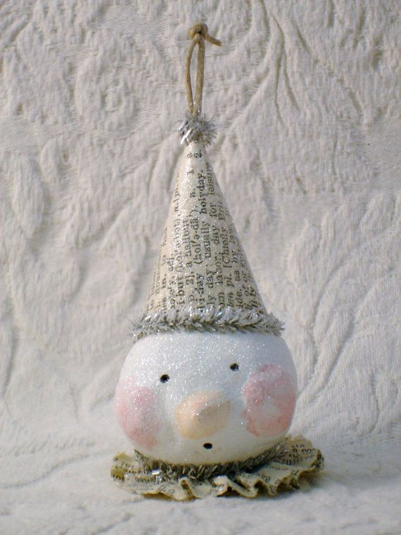 PDF Sweet Snowman Ornament Tutorial no shipping by sewmanyroses