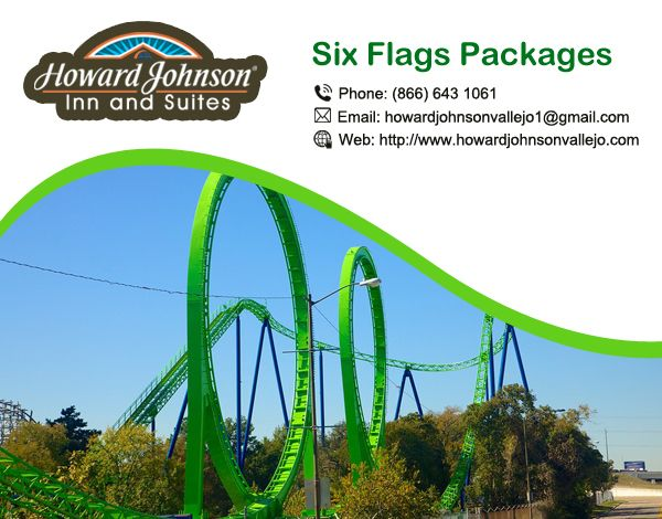 Howard Johnson offer ideal #Six_Flags #Packages in which daily shuttle is available. Visit Us At:- http://bit.ly/2ctBog5