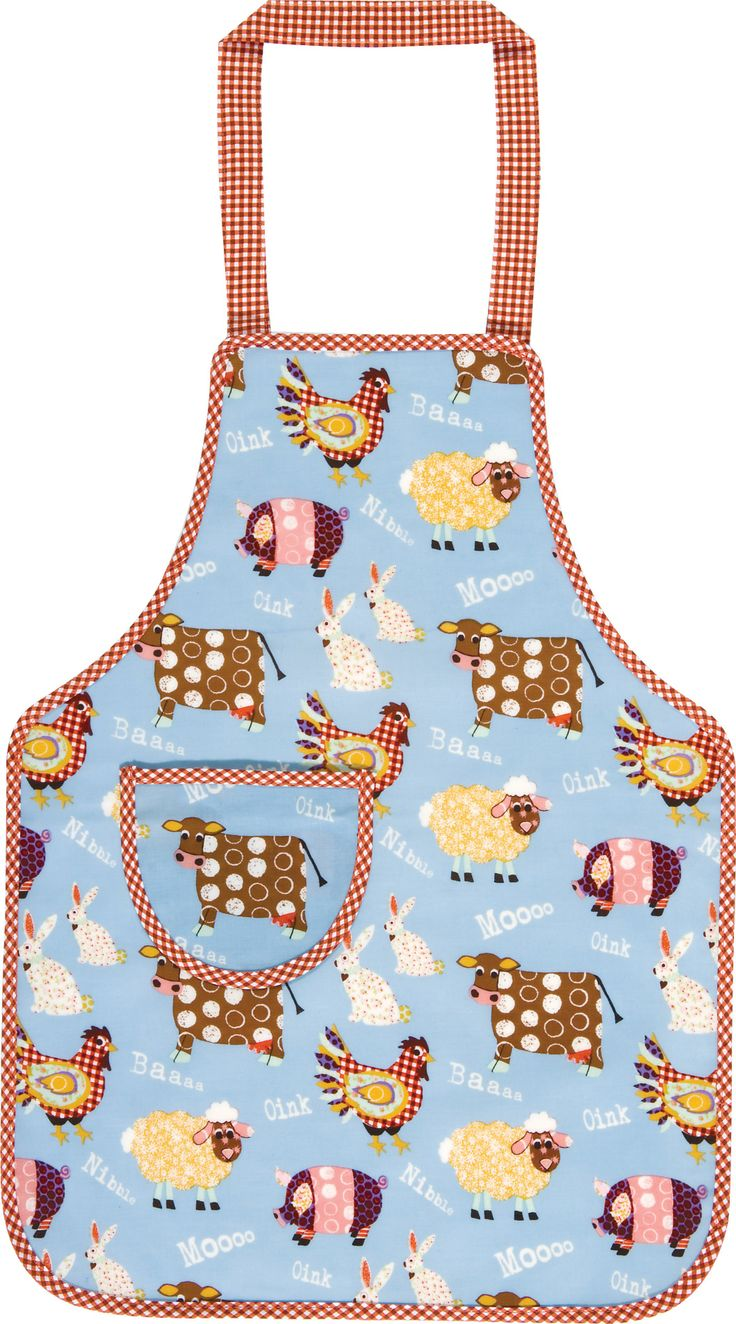 Perfect for little boys or girls who love to help out in the kitchen. The beautiful apron depicts playful farmyard animals the kids are sure to love!