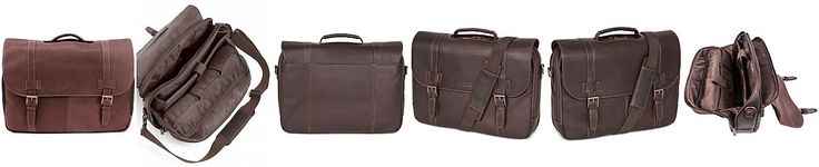 Kenneth Cole Reaction Colombian Leather Laptop Messenger Bag