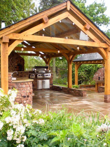 Radnor oak oak framed gazebos oak pavilion outdoor for Pinterest outdoor garden rooms