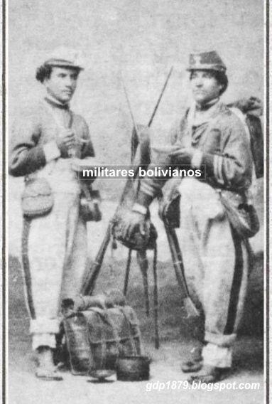 """Militares bolivianos del batallón """"Daza"""", """"Granaderos de la Guardia"""" 1º de Línea,"""