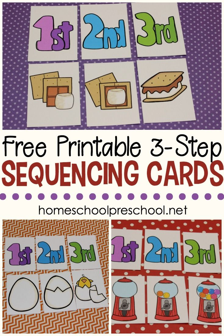 3 Step Sequencing Cards Printables For Preschoolers Math Activities Preschool Sequencing Activities Preschool Free Preschool Printables [ 1100 x 735 Pixel ]