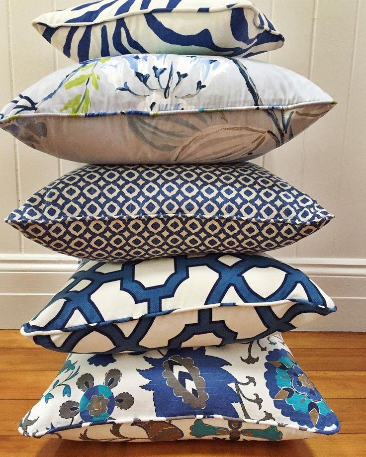 "105 aprecieri, 9 comentarii - Tina Kent (@ladychatterleysaffair) pe Instagram: ""Stacks On!! Cushions for SALE!  50x50cm, self-piped, feather inserts. $159 Top little rectangular…"""