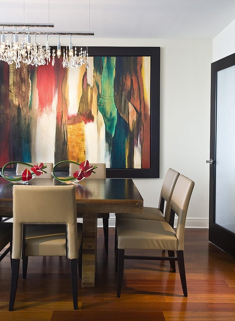 Colorful Contemporary Spaces By Fava Design Group Abstract Wall Art Makes This Dining Room Come