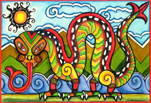 taniwha colouring pages - Google Search