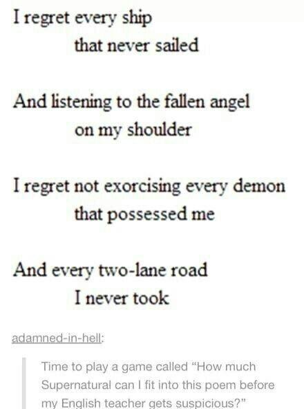 tumblr, poem, and supernatural image
