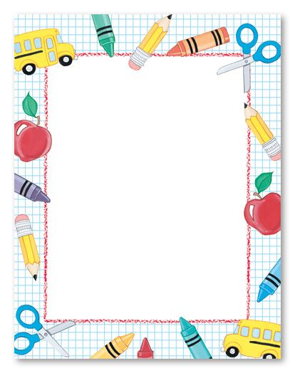 School Stuff Stationery Letterhead Places To Visit