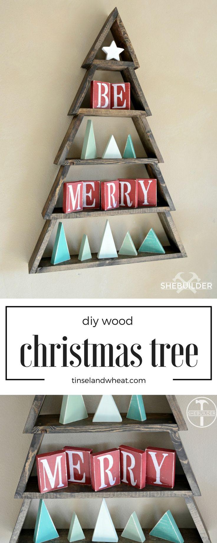 Wooden craft christmas trees - Diy Wood Christmas Tree