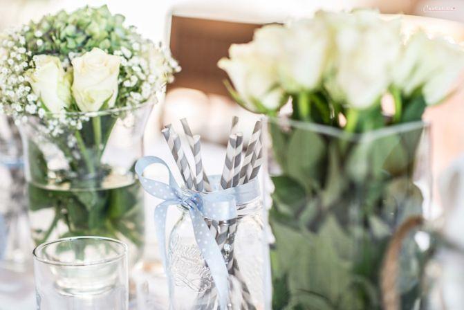 Babyparty, Babyparty Deko, Babyshower, Rezepte & Ideen am Blog, Baby, Dekorationsideen, Blumendekor, Rosen, Hortensien, Paper Straws