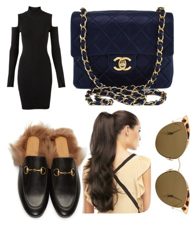 """""""Untitled #186"""" by jessieeev on Polyvore featuring Versus, Gucci, Chanel and Ahlem"""