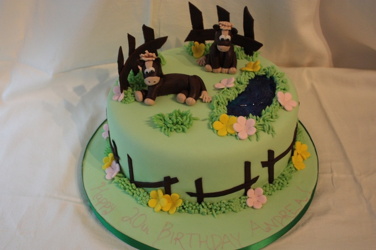 Here is a horse cake. Even at 20 there is always a kids in there somewhere.