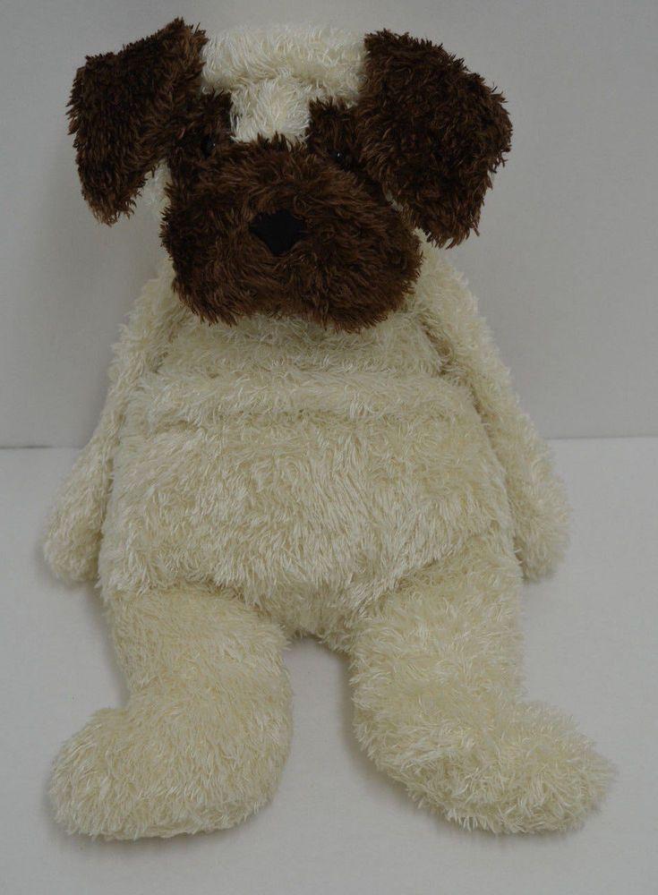 "Jellycat Bulldog Puppy Plush Cream Brown Bean Bag Lovey 15"" #Jellycat"