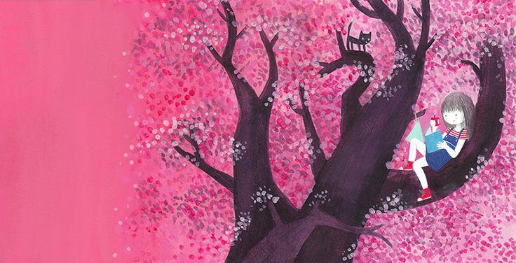 """Ilustración para el libro """"Mi ciruelo"""", Editorial SM. florenciaolivos.cl"""
