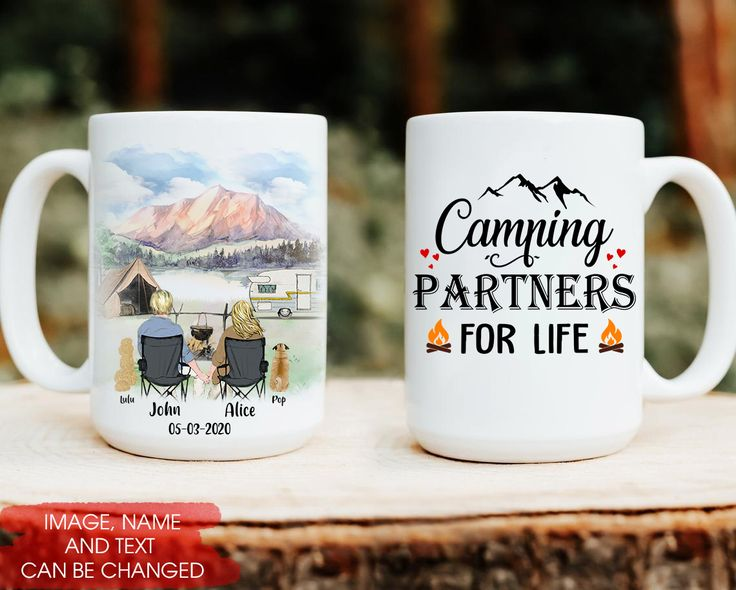 Camping Partners For Life Personalized Coffee Mug 11oz