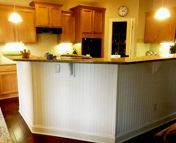 Bu0026B Project: Wainscoting On The Front Of The Kitchen Island Creates A Clean  And Durable