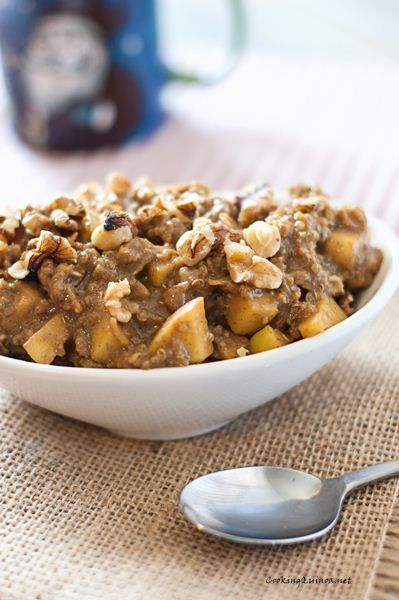 Apple Quinoa Morning Start.  ~ website has lots of Recipes for Quinoa and dairy free