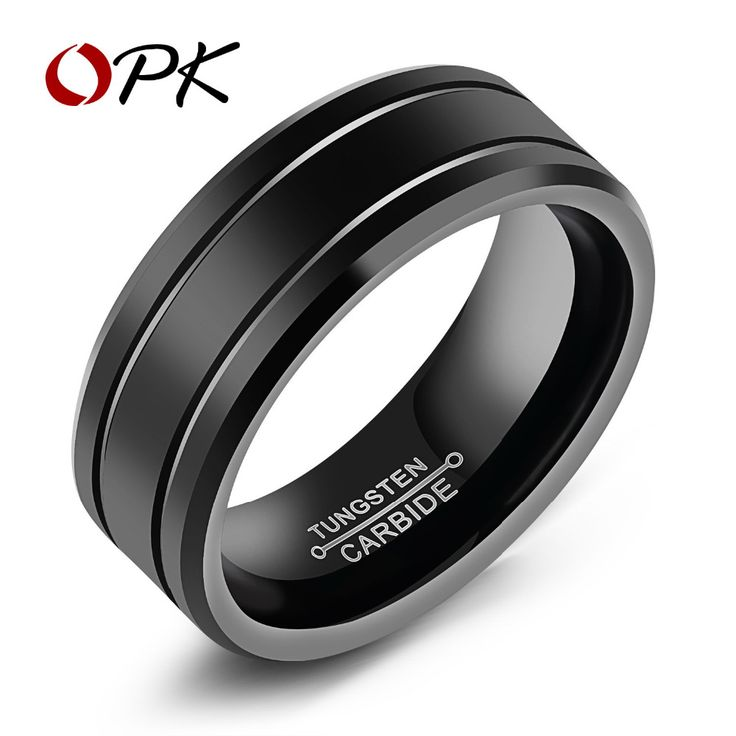 Tungsten Cool Men Rings High Polished Vintage Design 8mm Width Size 8 To 12 Accessory Band Gift For Men And Boy WJ245