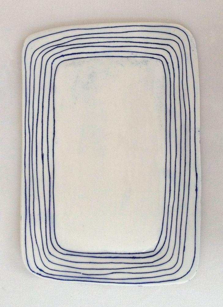 Ceramic platter by Paula Greif.