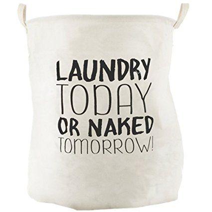 SMS Baumwolle Leinen Faltende Wäschekorb Wäsche Waschen Bin Lagerung Korb Spielzeug Veranstalter Laundry Today