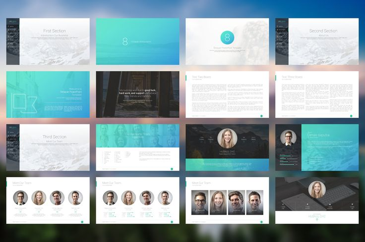 iDelapan PowerPoint Template by babud15 on Creative Market