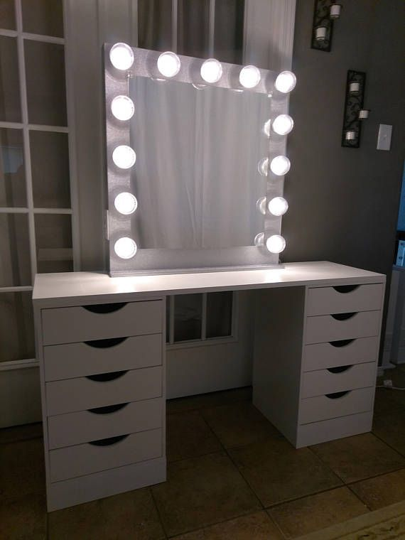 Vanity Mirror With Lights Dimmer And 2plug Outlet Bedroom Vanity With Lights Bedroom Vanity Stylish Bedroom