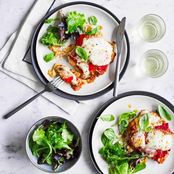Chicken and red pesto melts
