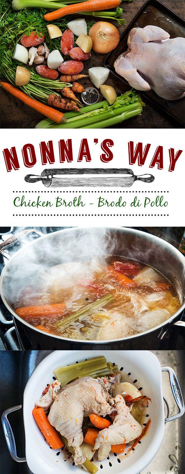 Brodo di Pollo  Chicken Broth via @nonnasway